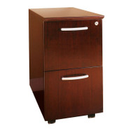 Mayline Napoli or Corsica Veneer Mobile Pedestal, 2 File Drawer ASSEMBLED Sierra Cherry - VFF-CRY