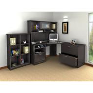 Bush Cabot Collection Corner Desk Package Espresso Oak - CAB002EPO