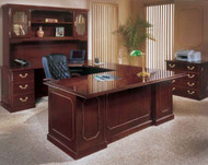 DMI Governor's Series Executive Desk Workstation U-Shaped Left - 7350PACKAGEB
