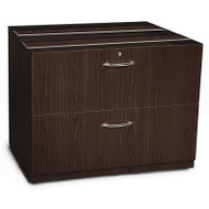 "Mayline Aberdeen Lateral File Cabinet 36"" for Credenza (NO TOP) Mocha - ACLF36"