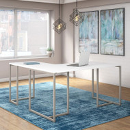Kathy Ireland by Bush Method Collection 60W L-Shaped Desk White - MTH004WH