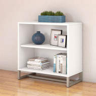 "Kathy Ireland by Bush Method Collection 2-Shelf Bookcase 30""H White - KI70205"