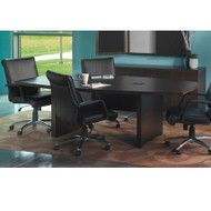 Mayline Aberdeen Conference Table Boat Surface 6' Mocha - ACTB6