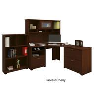 Bush Cabot Collection Corner Desk Package Harvest Cherry - CAB002HVC