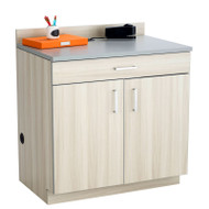 Safco Hospitality Base 2-Door Cabinet with Drawer, Vanilla Stix / Gray - 1701VS