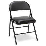 OFM Essentials Padded Metal Folding Chairs, Black (4-Pack) - ESS-8210-BLK