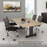 Mayline CSII Conference Table Rectangle with Premier Legs 72W x 36D x 29H - R73RP