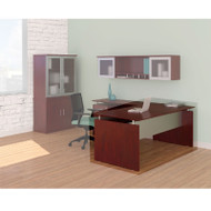 "Mayline Medina Laminate Executive Desk Straight 63"" Mahogany - MNDS63-LMH"