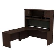 Bush Business Furniture Series C Package Executive L-Shaped Desk Left Mocha Cherry - SRC002MRL