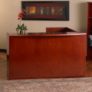 Mayline Mira Reception Desk Station with Return 72W x 36D x 43 1/2H Medium Cherry - MRSRBB-MC
