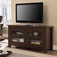"Walker Edison Coronado 44"" TV Console, Brown - WQ44CFDTB"