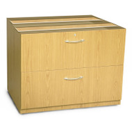 "Mayline Aberdeen Lateral File Cabinet 36"" for Credenza (NO TOP) Maple - ACLF36-LMA"