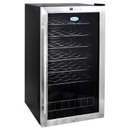 NewAir 33 Bottle Compressor Wine Cooler Stainless Steel & Black  - AWC-330E