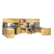 Mayline Aberdeen Executive Desk Package Maple - AT92-LMA