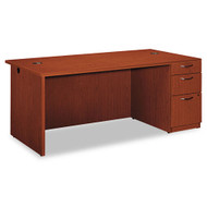 HON Park Avenue Laminate Collection Single Pedestal Desk Right, Assembled - PC027RVJ