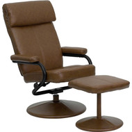 Flash Furniture Contemporary Palomino Leather Recliner and Ottoman - BT-7863-PALOMINO-GG