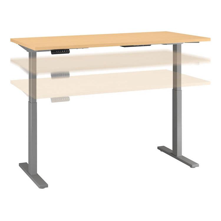 Bush Business Furniture Series C 400 Height Adjustable Table Desk 60 X 24 Natural Maple Hat6024ack