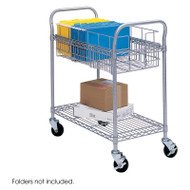 "Safco Wire Mail Cart 24""W - 5235GR"