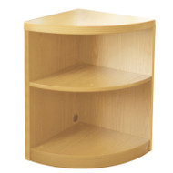 Mayline Aberdeen Bookcase Quarter Round 2-Shelf Maple - ABQ2-LMA