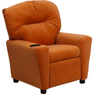 Flash Furniture Contemporary Kid's Recliner with Cup Holder Orange Microfiber - BT-7950-KID-MIC-ORG-GG
