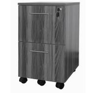 Mayline Medina Mobile Pedestal File/File Gray Steel - MNFF-LGS