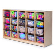 Whitney Brothers 20-Tray Cubby Storage Cabinet - WB3251