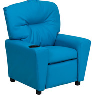 Flash Furniture Contemporary Kid's Recliner with Cup Holder Turquoise Vinyl - BT-7950-KID-TURQ-GG