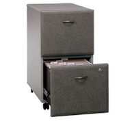 Bush Business Furniture Series A Mobile File Cabinet 2-Drawer Pewter Assembled - WC14552PSU