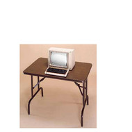 Correll Melamine Top Folding Table Keyboard Height 24 x 48  - CF2448MK