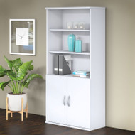 "Bush Business Furniture Studio C Bookcase 5-shelf with Doors 36"" White - STC015WH"