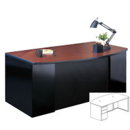 Mayline CSII Bow Front Desk with Box/Box/File Pedestal 60W x 39D x 29H - C1951