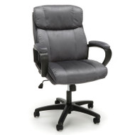 OFM Essentials Plush Mid Back Microfiber Office Chair Gray - ESS-3082-GRY