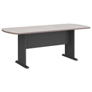 Bush Business Furniture Series A & C 79W x 34D Racetrack Oval Conference Table in Pewter - TR14584A
