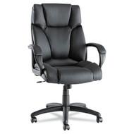 Alera Fraze Series High-Back Swivel/Tilt Chair Black Leather - FZ41LS10B