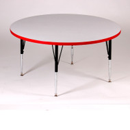 Correll High-Pressure Top Activity Table Round 48 with Colored T-Mold - A48-RND-T