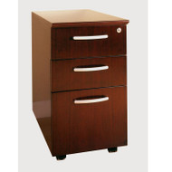 Mayline Napoli or Corsica Veneer Mobile Pedestal, 2 Box & 1 File Drawer ASSEMBLED Sierra Cherry - VBBF-CRY