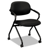 Basyx Black Mesh Back Nesting Arm Chair - VL301MM10T