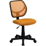 Flash Furniture Mid-Back Orange Mesh Task Chair and Computer Chair - WA-3074-OR-GG