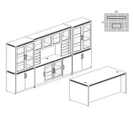 Mayline Aberdeen Executive Desk & Storage Cabinet Package Gray Steel - AT35-LGS