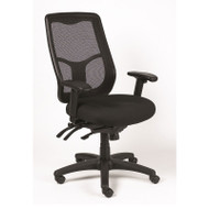 Eurotech by Raynor Apollo High-Back Multi-Function Mesh Back Chair with Fabric Seat - MFHB9SL