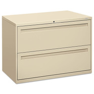 "HON 700 Series 42"" 2-Drawer Metal Lateral File Cabinet - 792L"