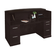 Mayline Sorrento Reception Station Desk with Veneer Espresso - SRCD