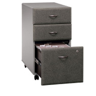 Bush Business Furniture Series A Mobile File Cabinet 3-Drawer Pewter Assembled - WC14553PSU