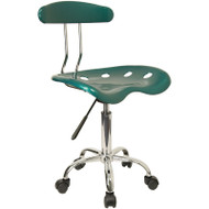 Flash Furniture Vibrant Green and Chrome Computer Task Chair with Tractor Seat - LF-214-GREEN-GG