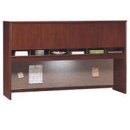 "Bush Business Furniture Series C Hutch 4-Door 72"" Hansen Cherry - WC24477K"