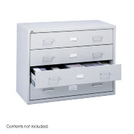 Safco Steel Locking Audio Video Microform Storage Cabinet - 4935LG