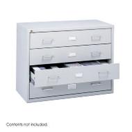 Safco Steel Locking Audio Video Microform Storage Cabinet - 4935LG