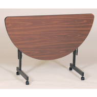 Correll Melamine FlipTop Half-Round Table - FT2448MR