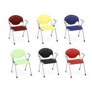 OFM Stacking Chair with arms (Pack of 4) - 306