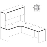 Mayline Aberdeen Executive L-Shaped Corner Desk Work Station Cherry - AT30-LCR